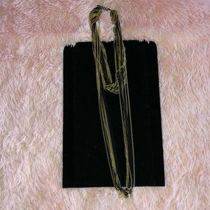 Black and Gold neclace